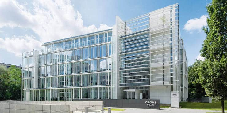 Grohe Corporate Center in Düsseldorf (Quelle: www.grohe.com)